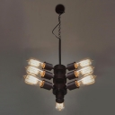Flexible Sputnik Bulb Style Industrial LED Pendant with 9 Lights