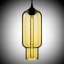 Open-Mouthed Colored Glass LOFT Industrial Mini Pendant