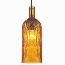 Glass Bottle Shape Industrial Colored LOFT Chandelier Pendant