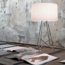 """Aluminum Drum Shade 14.1""""Wide Designer Table Lamp"""