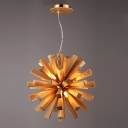 Brilliant Design Burst Style Globe Large Designer Pendant Lighting