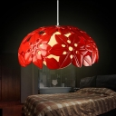 Double Shaded Designer Resin Suspension Pendant Light