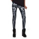Black Skull Skeleton Print Spandex Fashion Leggings