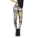 Hunter Print Green Background Elastic Fashion Leggings