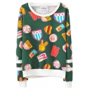 Creative Cartoon Applique Sweatshirt