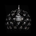 Stylish Black Finished Metal Frame Adorned with Crystal Beads Composed Striking Single Light Large Pendant