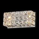 Elegant Crystal Wall Sconce Features Strongly Back Plate and Clear Crystal beads