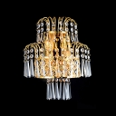Lustrous Low-Voltage Luminaire Wall Sconce Composed of  Faceted Crystal Beads