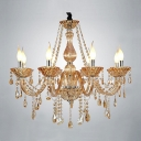 Warm Amber Crystal Strands and Droplets 8-Light 29.5