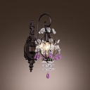 Stunning Wall Sconce with Elegant Shape Crystal Accents for Brilliant Lighting Display