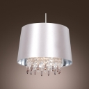 Smooth and Chic Hardback Shade Crystal Strands and Droplets Large Pendant