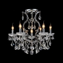 Crystal Drops Hand-formed Crystal Arms and Crystal Draping All Decorate Gorgeous Chandelier