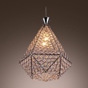 Unique Frame with Crystal Beads and Chic Bronze Finish Composed Gleaming Delightful Chandelier