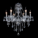 Delicate Crystal Scrolls Stunning Crystal Chains and Ball 6 Candle Lights Chandelier