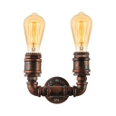 Industrial Design Warehouse LED Wall Light in Rust Finish