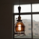 LED Mini Pendant Light Blooming Cage in Industrial Style