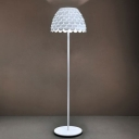 "Iron And Acrylic Soft White Finished Designer Floor Lamp 70""High"