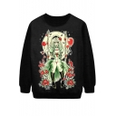 Horror Green Swing Little Girl Print Sweatshirt