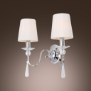 Eye-catching Two-light Wall Sconce Completed with Polished Chrome finish and Graceful Scrolls
