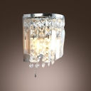 Unique Designed Wall Sconce Complete with Graceful Clear Teardrops