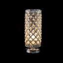Delicate Metal Frame inset Crystal Beads Add Elegance and Charm to Gorgeous Table Lamp