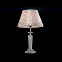 Pink Flower Design Shade and Crystal Center Add Charm to Graceful Delightful Table Lamp
