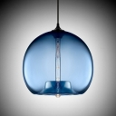 Sphere Downward Industrial Colored Glass LOFT Chandelier Pendant