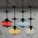 Sealed Glass Oval Shaped Industrial Pendant Light