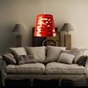 Cone Shape Resin Mini Pendant Light For Dinning Room Red