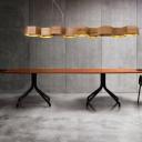 Long Seven Lights Honeycomb Shaped Designer Island Light for Restaurant