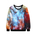 Fantasy Space Print Sweatshirt