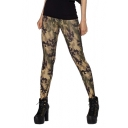 Camouflage Pattern Fitted Elastic Pencil Leggings