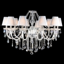 Exquisite 8-Light Plentiful Crystal Strands and Drops Waterfall Luxurious Chandelier Light