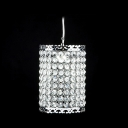 Electroplated Chrome Finished Cylindrical Shape and Sparkling Crystal Beaded Mini Pendant
