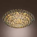 Luxurious All Small Clear Crystal Globes 4-Light 15.7