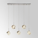 Distinctive Chic Design 24'' Wide Crystal Multi Light Pendant Made Glamorous Embellishment to Your Home Decor