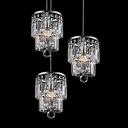 Stunning Round Canopy Crystal 3-Light Nickel Multi Light Pendant Creating Glamorous Embellishment