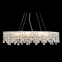 Modern and Fashion Style Island Kitchen Lighting with Clear Crystal Raindrops