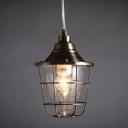 Antique Bronze Single Light Warehouse Outdoor Pendant Lighting Fixture