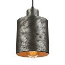 "Cylinder Shade Nostalgic Industrial Warehouse Mini Pendant Light in 4.3""Wide"
