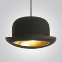 "Charming Black Hat 10.2""Wide Designer Pendant Lighting with Gold Inner Side"