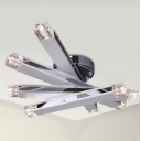 8-light Contemporary Chrome Finish Close to Ceiling Light