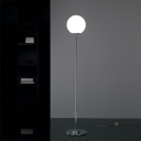 "62.9""Height Metal Base and Cream Glass Shaded Designer Floor Lamp"