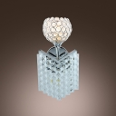 Beautiful Single-light Wall Sconce Features Globe Design with Crystal Beads