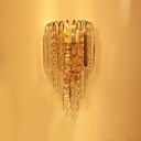 Contemporary Style and Sensibilities Shine Through Crystal Wall Sconce.