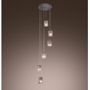 Elegant Multi Light Pendant Embelished with Gleaming Crystals Create Chic Modern Look