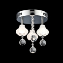 Lovely and Beautiful Floral Shaded Flush Mount Hanging Clear Crystal Globes