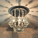Clear Crystal Balls Falling Round Foyer Small 7