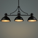 "Three-Light 47.2""Wide Large Industrial Style Island Light in Brilliant Design"