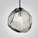 Crystal Ice Cube in Blue/Orange/Grey Novel Pendant Light